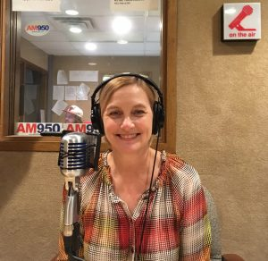 "Kristin Makholm in the book on AM950's ""A Woman's Place"""