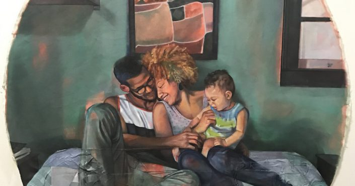 "Leslie Barlow, ""Alissa, Jared, and Khalil"""