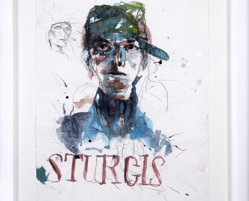 "Brad Kahlhamer, ""Sturgis,"" 2007. Watercolor on paper, 20 x 16 inches. Courtesy of the artist and Jack Shainman Gallery, New York."